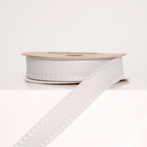 Silver Grey Stitched Ribbon - Lolly & Boo - 1