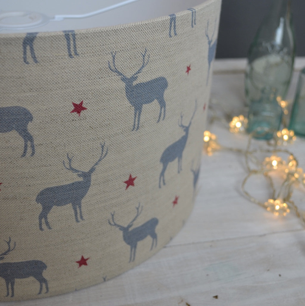 Stag All Star Linen Drum Lampshade - Lolly & Boo