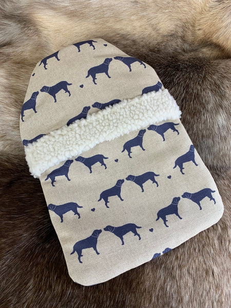 Olive+Daisy Navy Hot Water Bottle