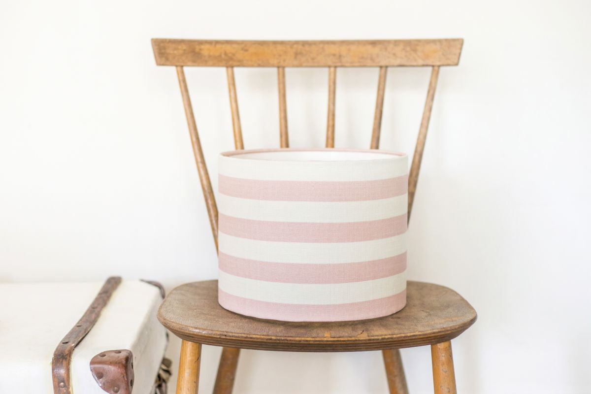 Pink Icing Summer Stripe Linen Lampshade