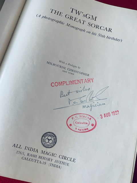 THE GREAT SORCAR (AUTOGRAPHED) - BOOK