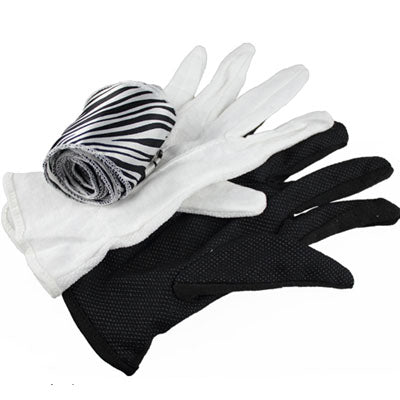 Black And White Glove To Silk Streamer Magic Trick