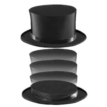 Collapsible Folding Top Hat