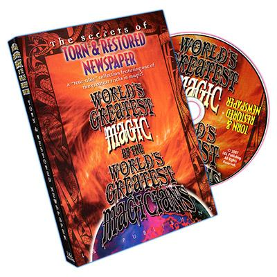 TORN AND RESTORED NEWSPAPER TRICK - DVD