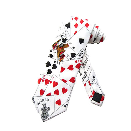 PLAYING CARDS NECK TIE