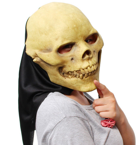 HOODED SKULL - LATEX MASK