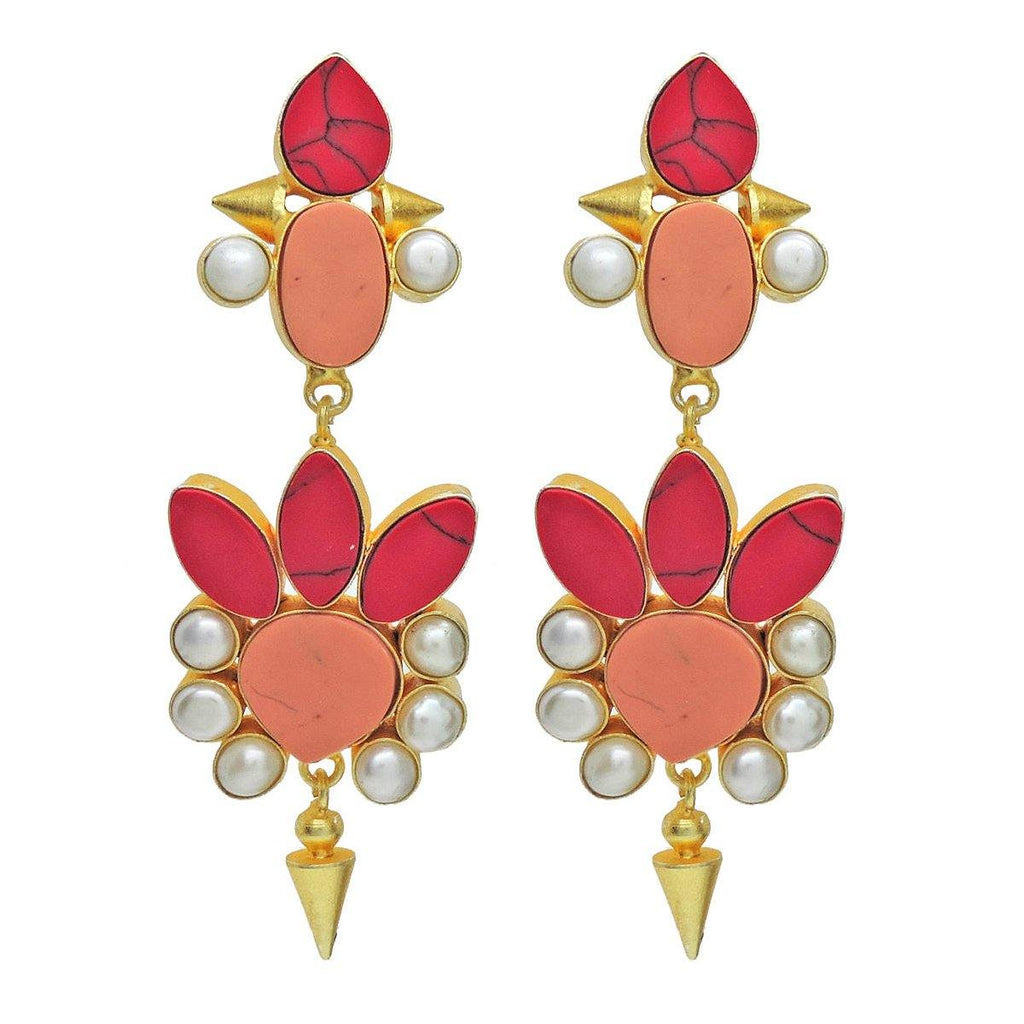 Scarlet Bhatti Earrings - Earrings - Handcrafted Jewellery - Dori