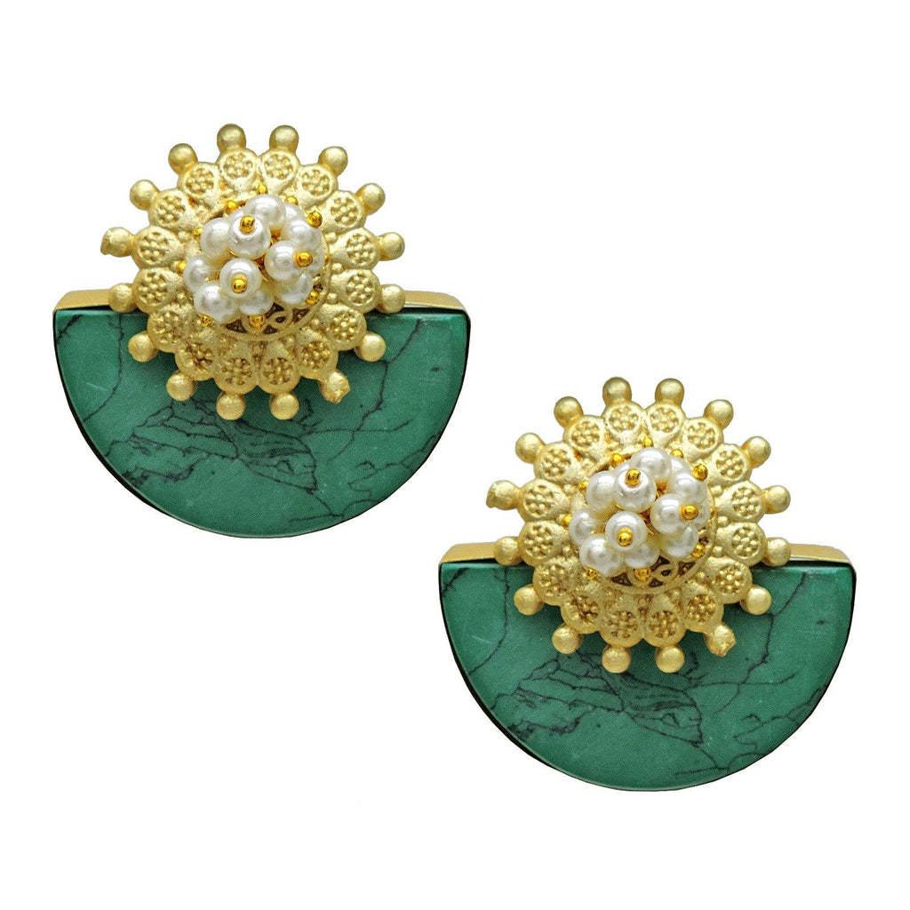 Kestrel Crown Studs - Earrings - Handcrafted Jewellery - Dori