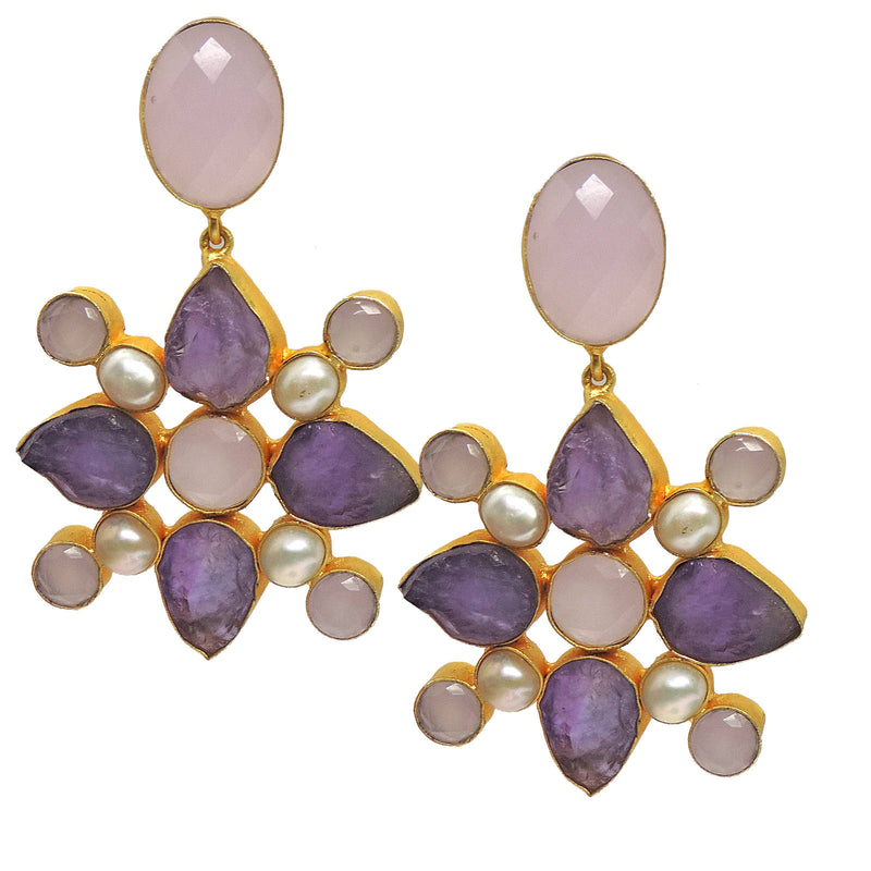 Statement Amethyst Earrings
