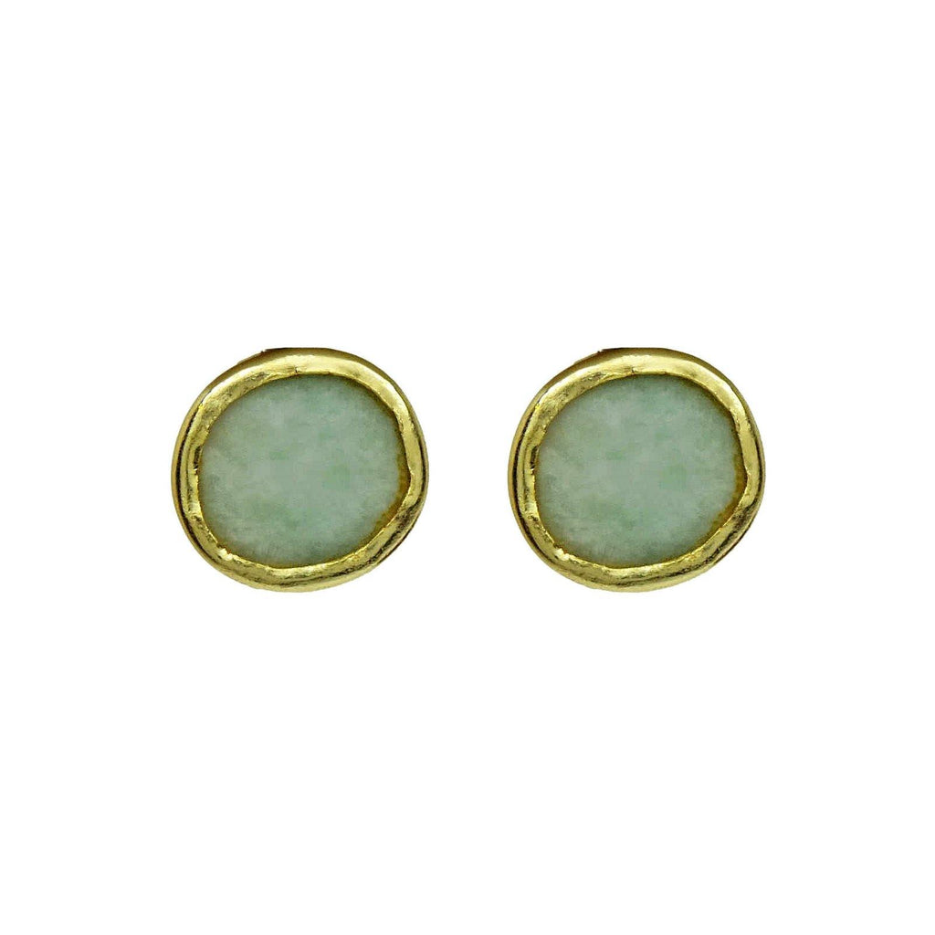 Classic Circle Earrings in Amazonite | Handcrafted Jewellery | Dori