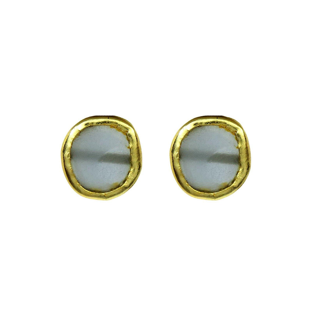 Classic Circle Earrings in Quartz | Handcrafted Jewellery | Dori