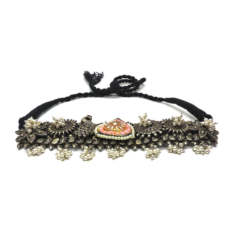 Aria Kundan Choker in Rose | Handcrafted Jewellery | Dori