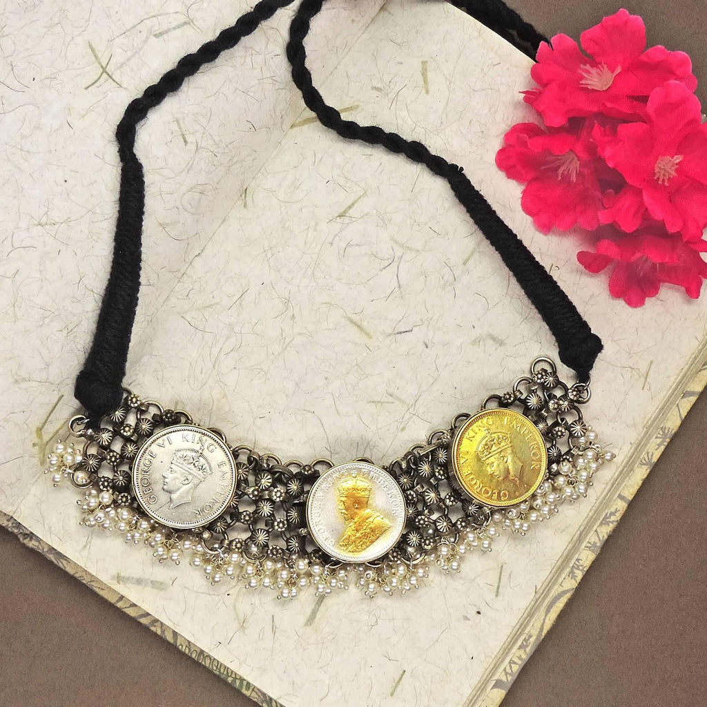 3-Coin Choker | Handcrafted Jewellery | Dori