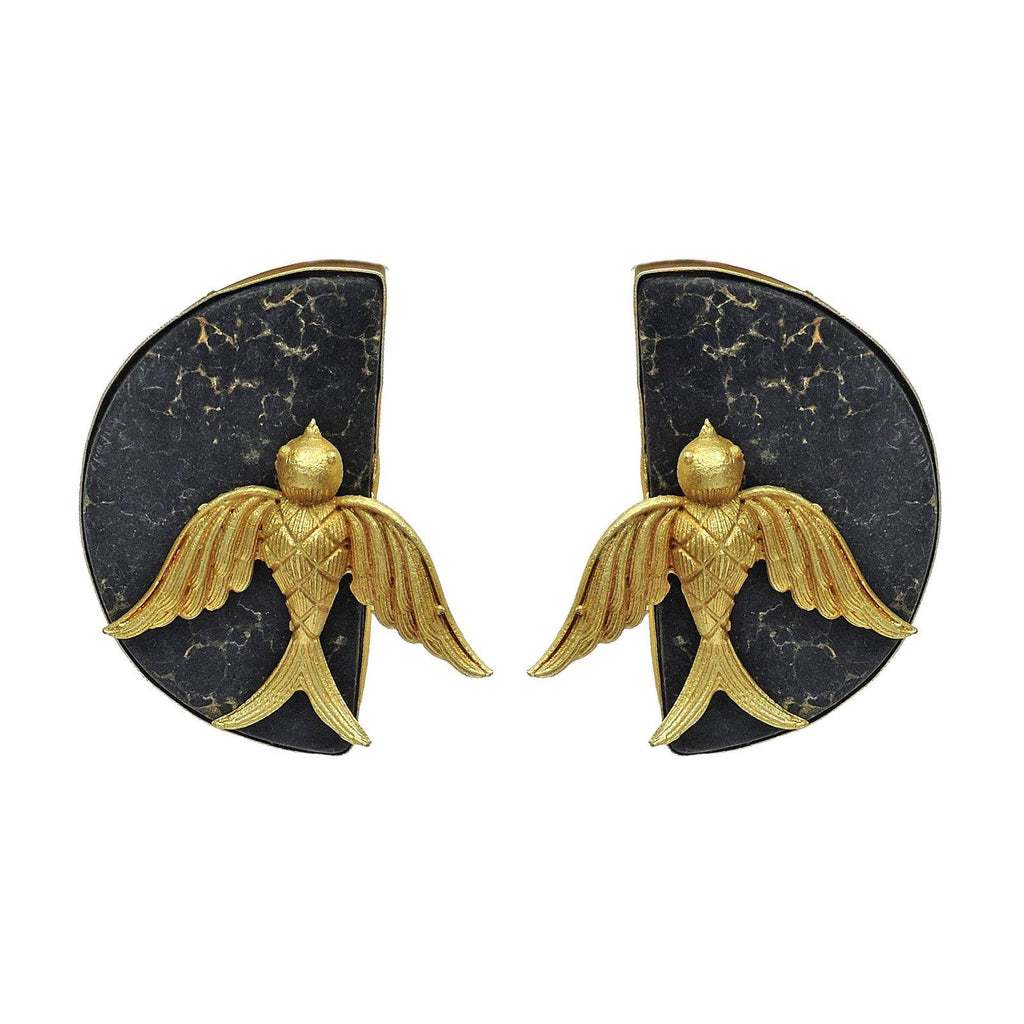 Kestrel Night Studs - Earrings - Handcrafted Jewellery - Dori