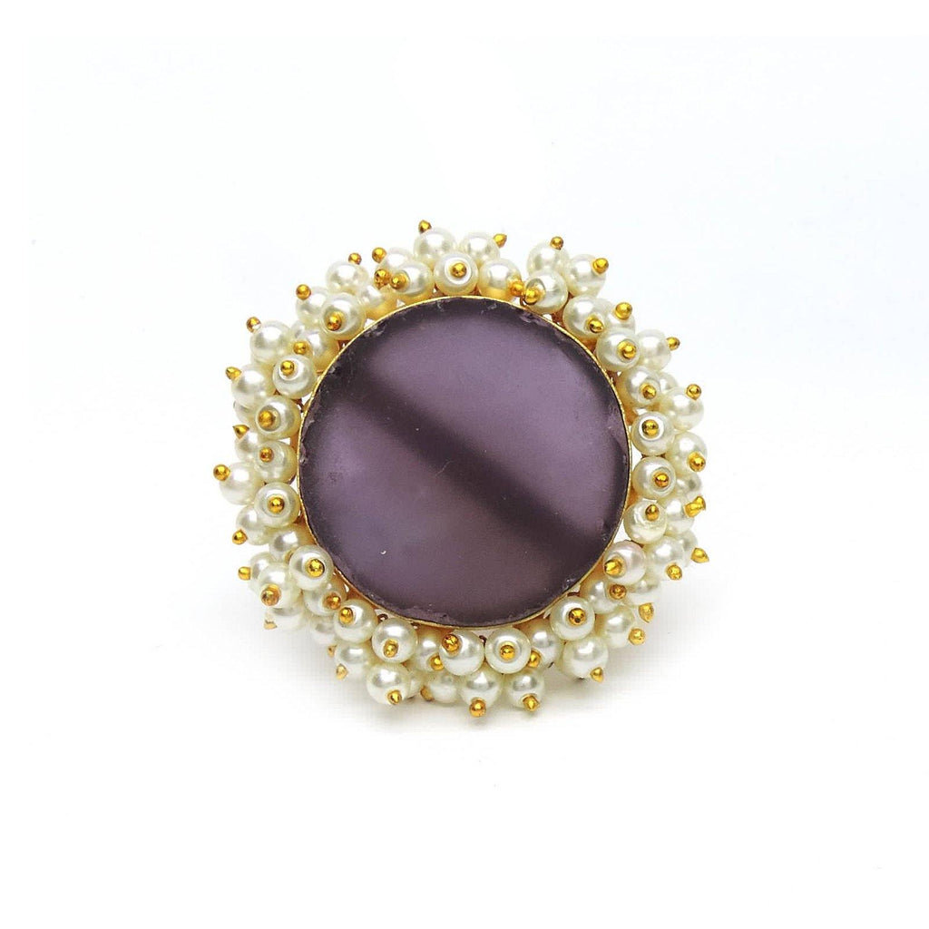 Sphere Ring in Amethyst | Handcrafted Jewellery | Dori