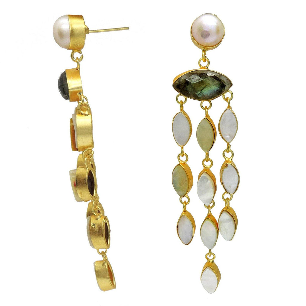 Pearl Vine Earrings | Handcrafted Jewellery | Dori