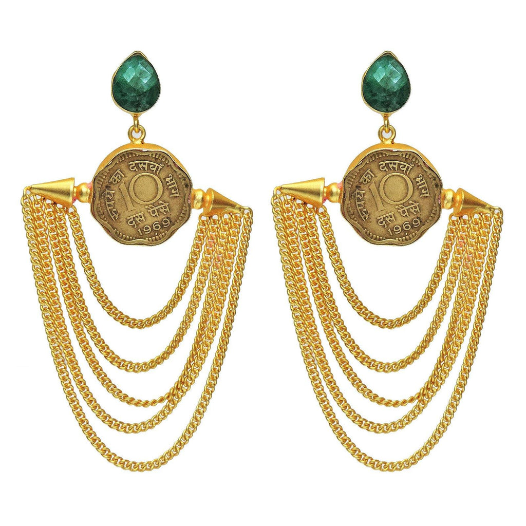 Coin Chain Earrings | Handcrafted Jewellery | Dori