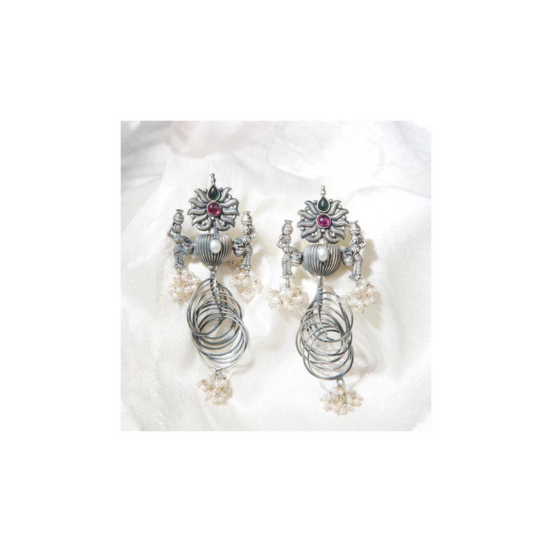 Valkyrie Silver Earrings | Handcrafted Jewellery | Dori