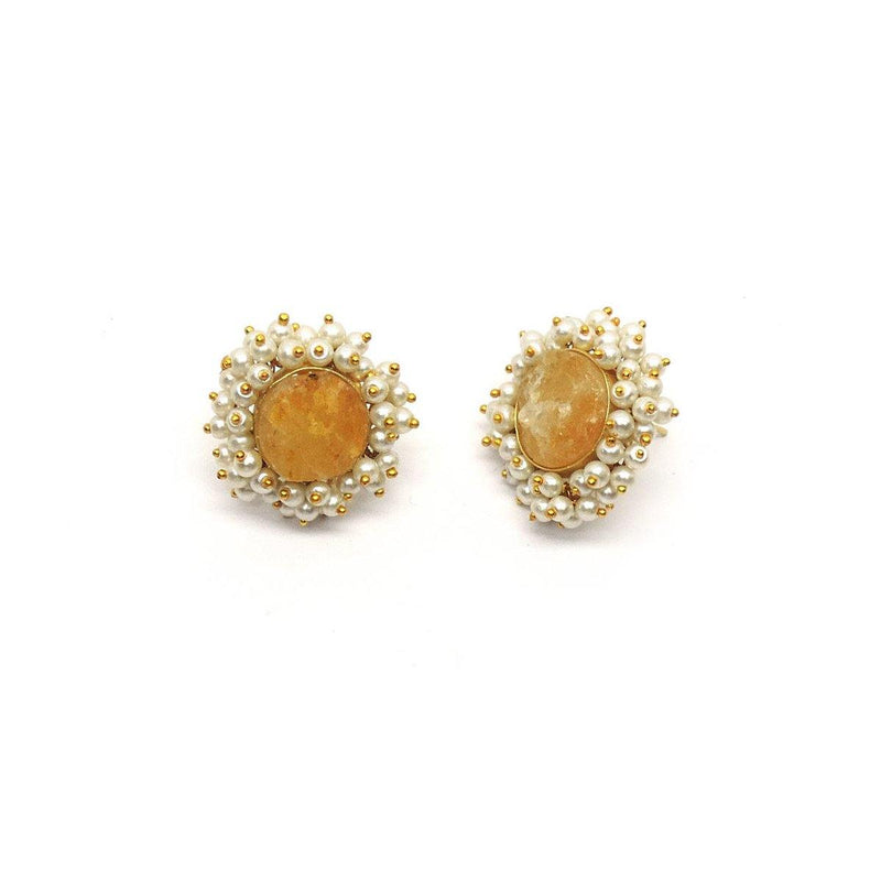 Jasper Bloom Earrings | Handcrafted Jewellery | Dori