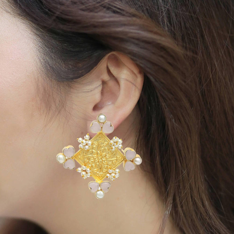 Sunshine Clover Earrings | Handcrafted Jewellery | Dori