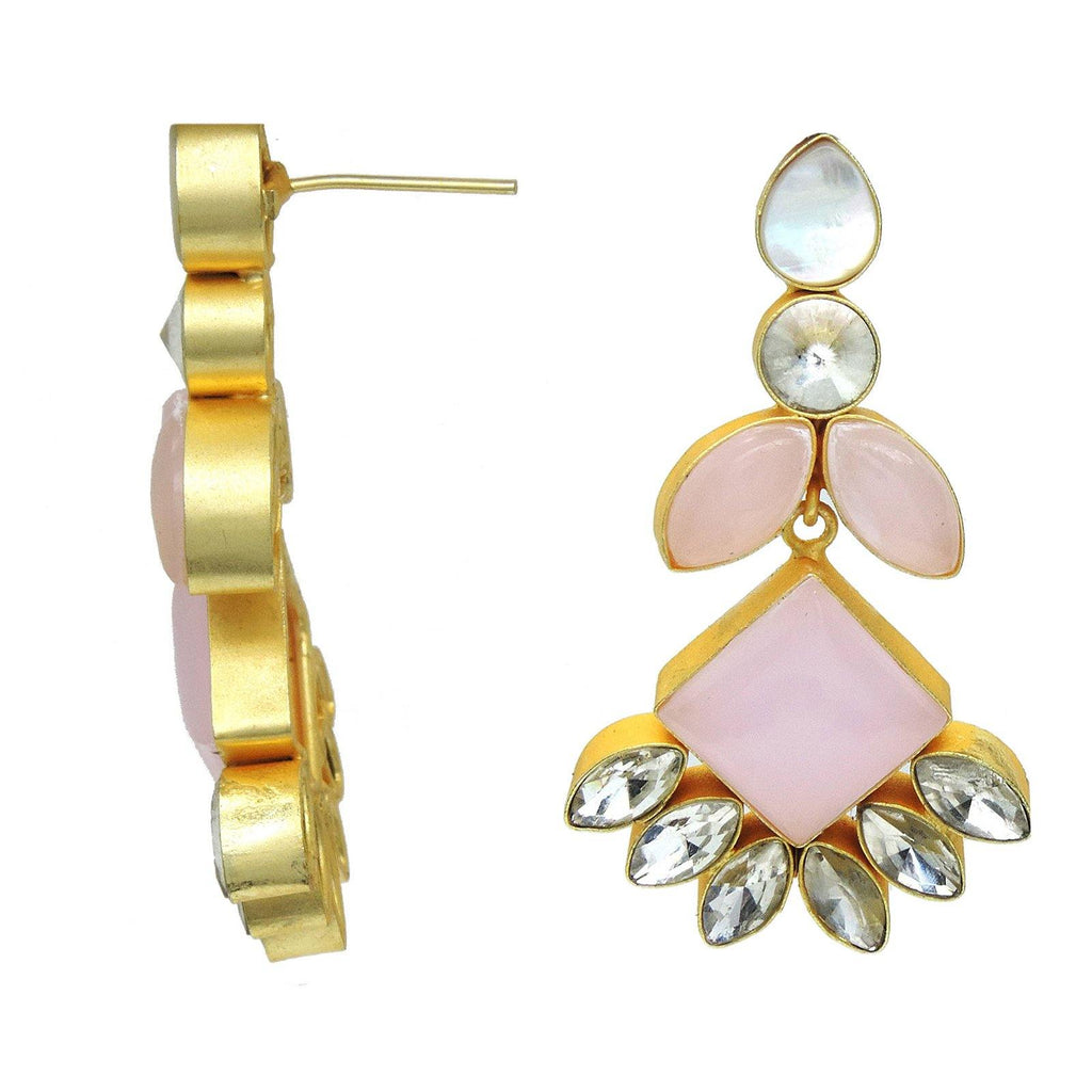 Rose Diamond Earrings | Handcrafted Jewellery | Dori
