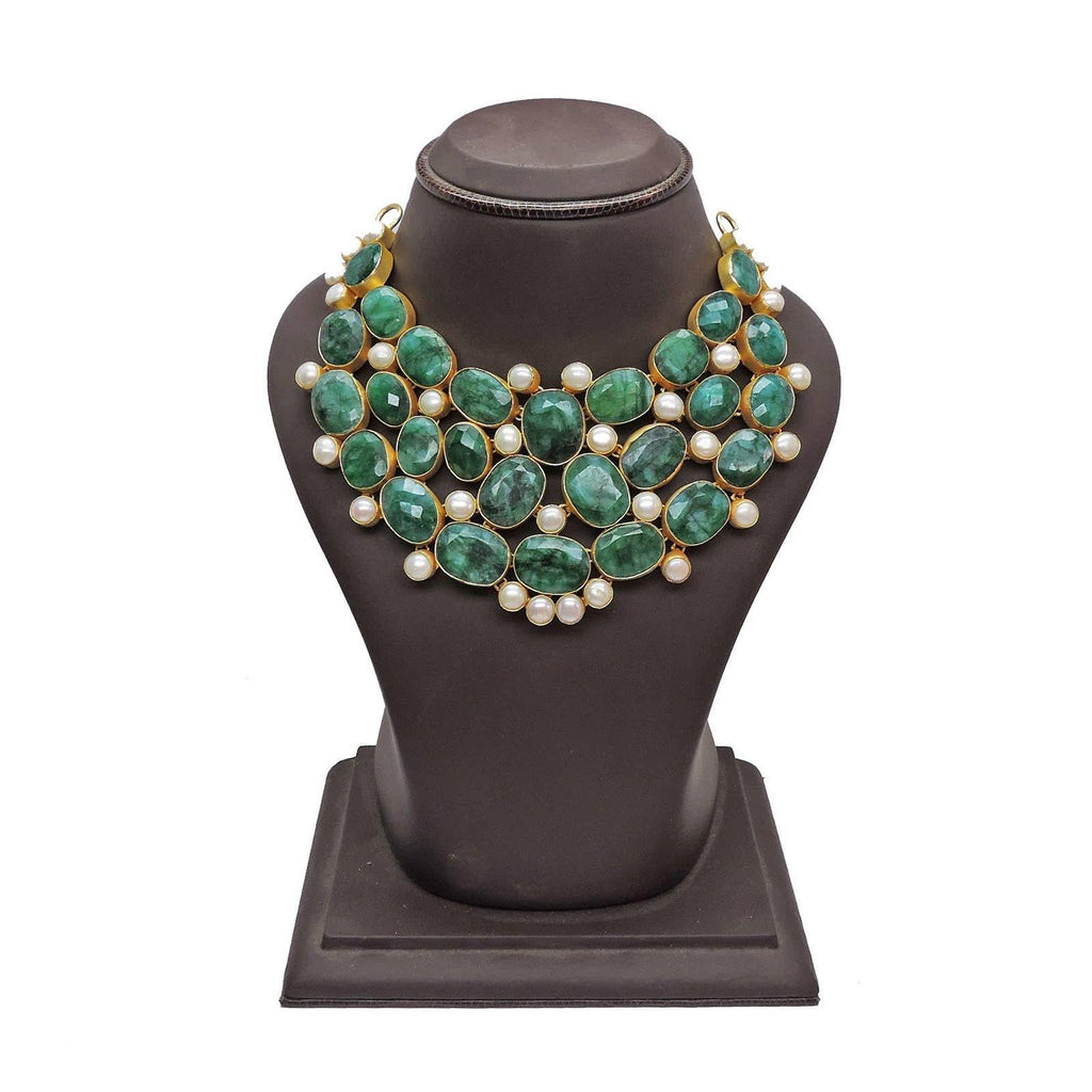 Statement Necklace in Haathipada & Pearl | Handcrafted Jewellery | Dori