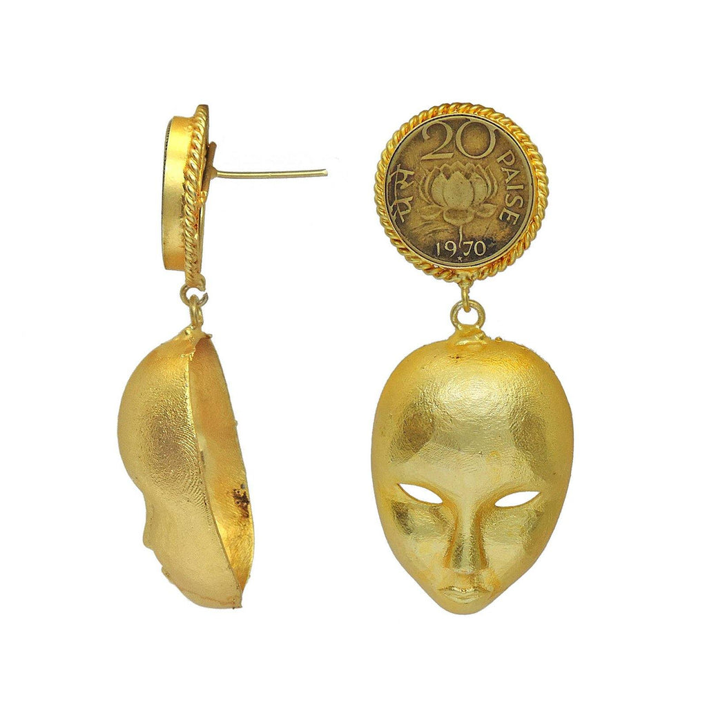 Maskara Danglers - Earrings - Handcrafted Jewellery - Dori