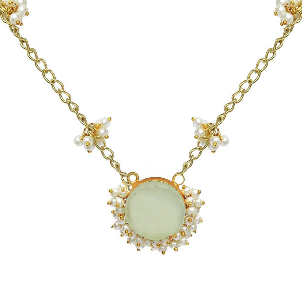 Chalcedony Tiara Pendant Necklace - Necklaces - Handcrafted Jewellery - Dori