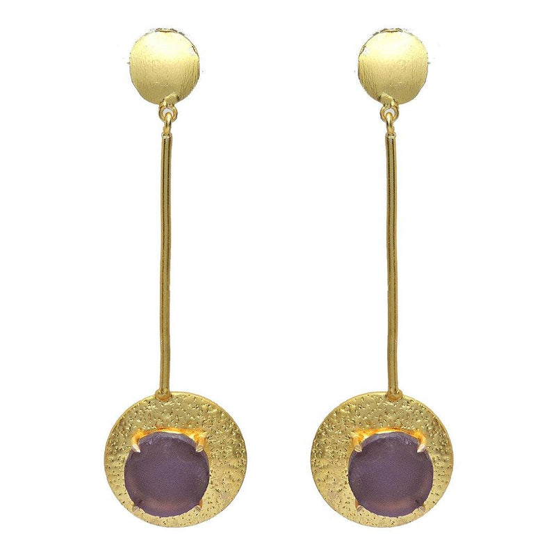 Amethyst Stick Earrings | Handcrafted Jewellery | Dori