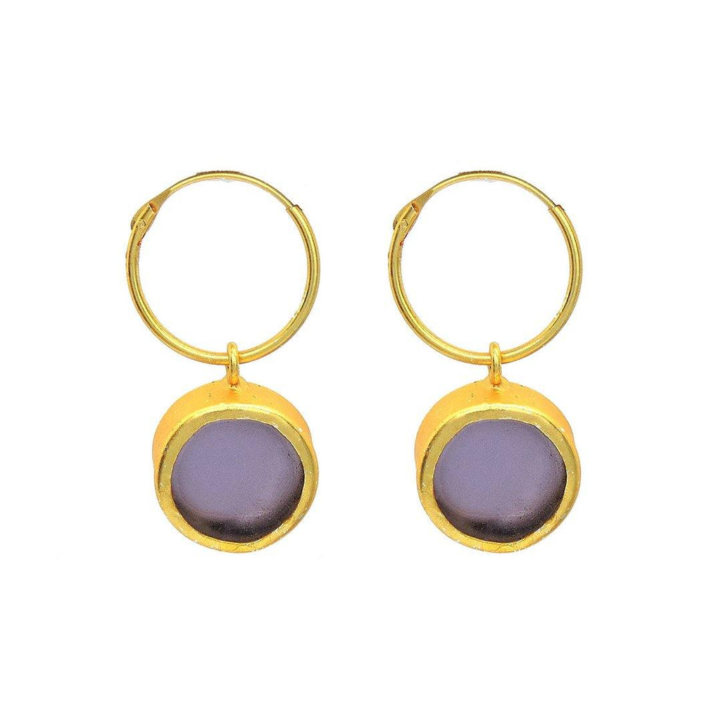 Amethsyt Classic Hoops - Earrings - Handcrafted Jewellery - Dori
