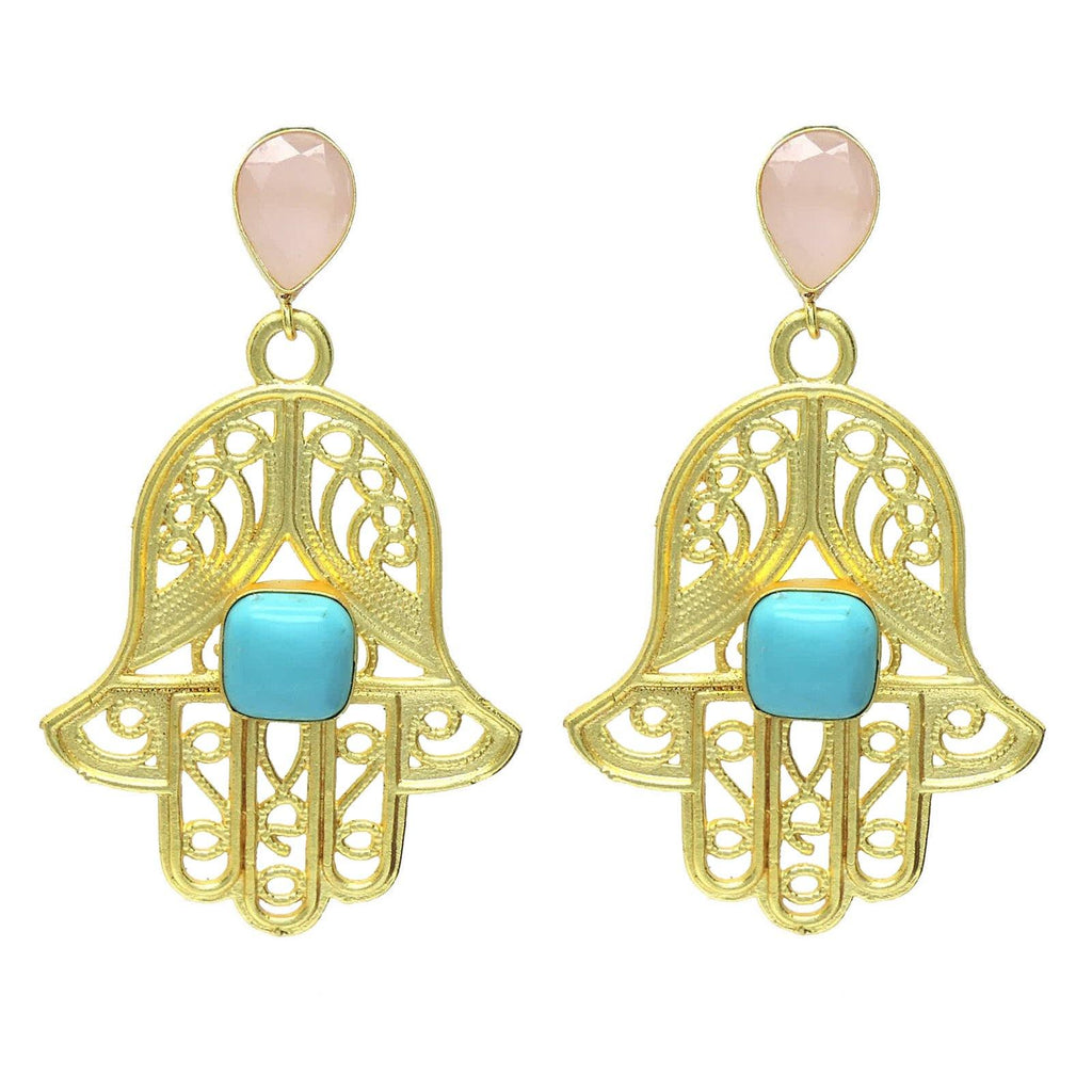 Hamsa Earrings - Earrings - Handcrafted Jewellery - Dori