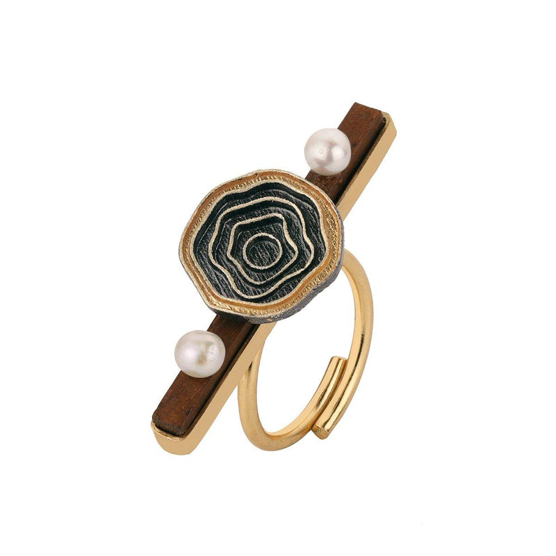Abyss Wood Ring | Handcrafted Jewellery | Madiha Jaipur | Dori