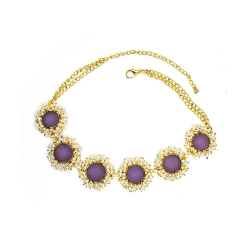 Classic Round Necklace in Amethyst | Handcrafted Jewellery | Dori