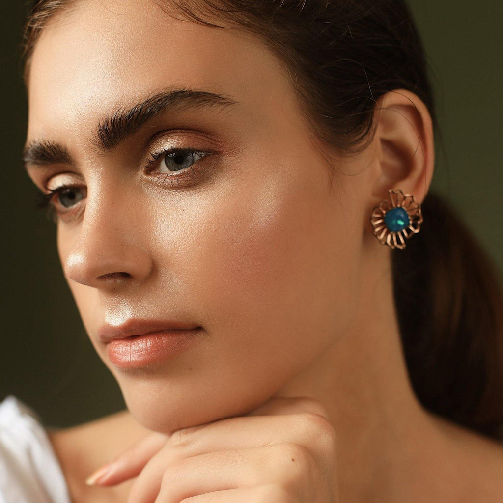 Barong Earrings in Turquoise