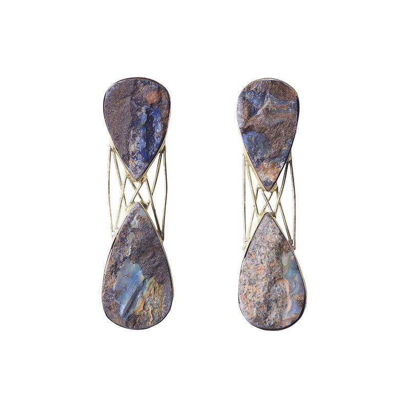 Boulder Drop Earrings | Handcrafted Jewellery | Eurumme | Dori