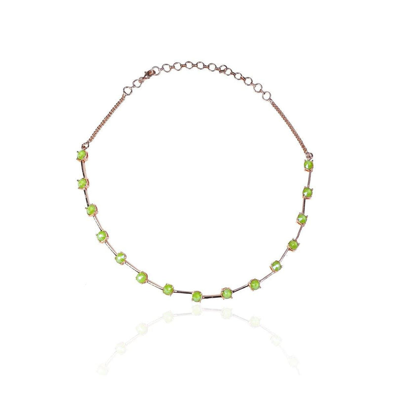 Swarovski Crystal Choker in Forest | Handcrafted Jewellery | Esme Crystals | Dori