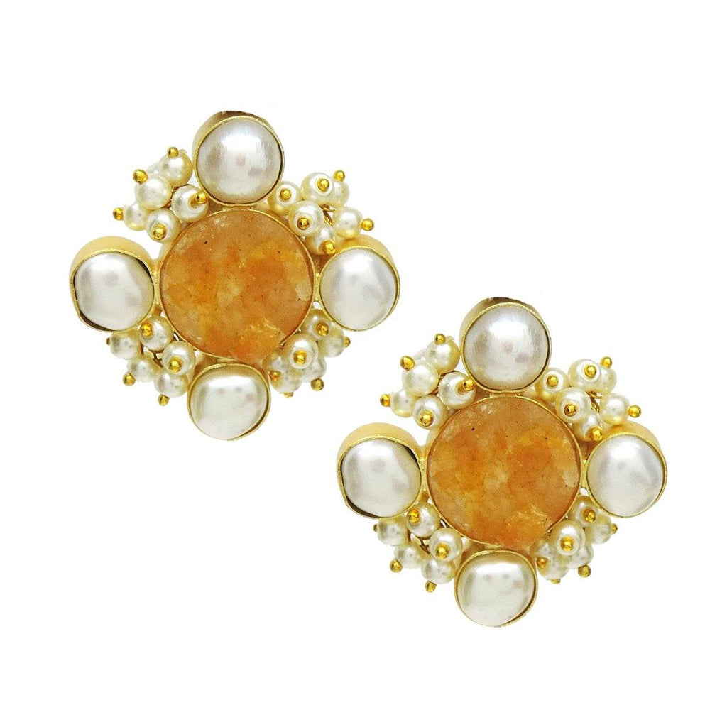Citrine Sunset Earrings | Handcrafted Jewellery | Dori