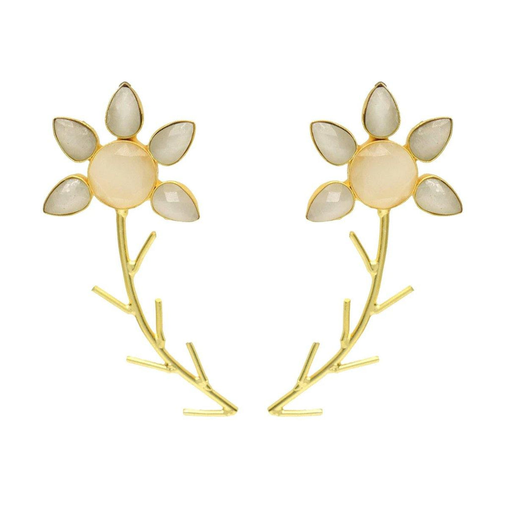 Flora Twist Earrings in Desert | Handcrafted Jewellery | Dori
