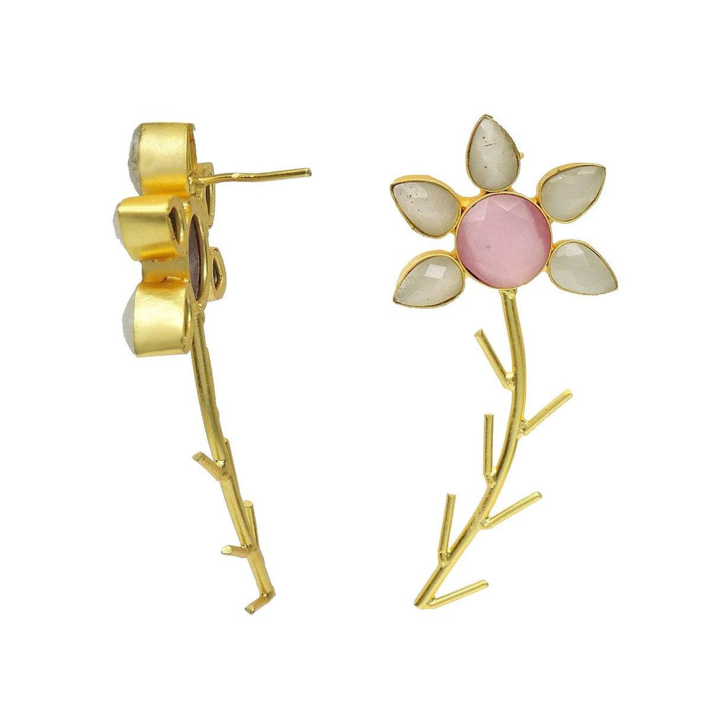 Flora Twist Earrings in Rose | Handcrafted Jewellery | Dori