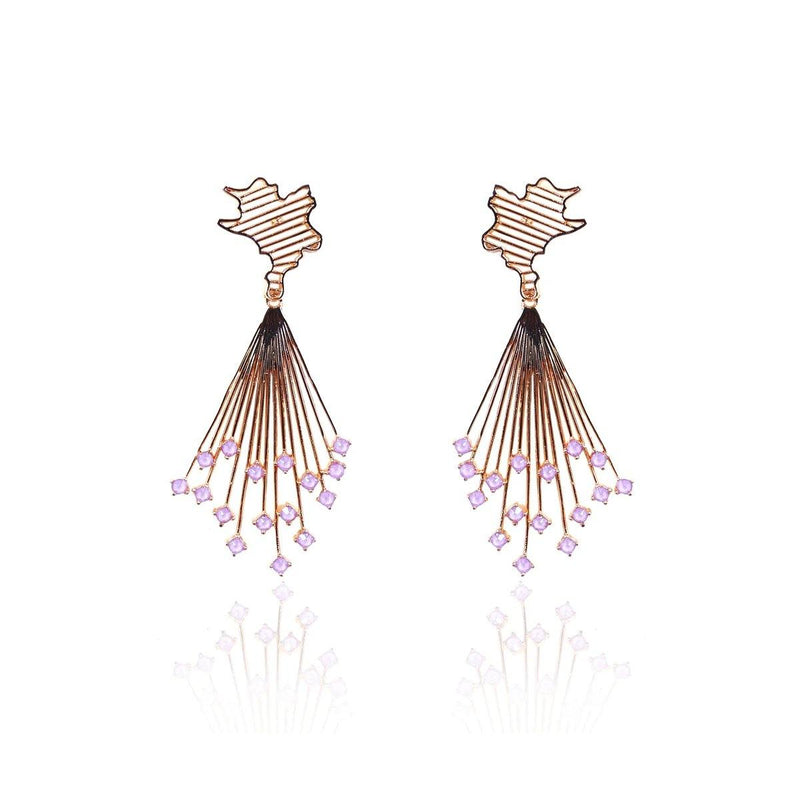 Glide Crystal Danglers in Lilac | Handcrafted Jewellery | Esme Crystals | Dori