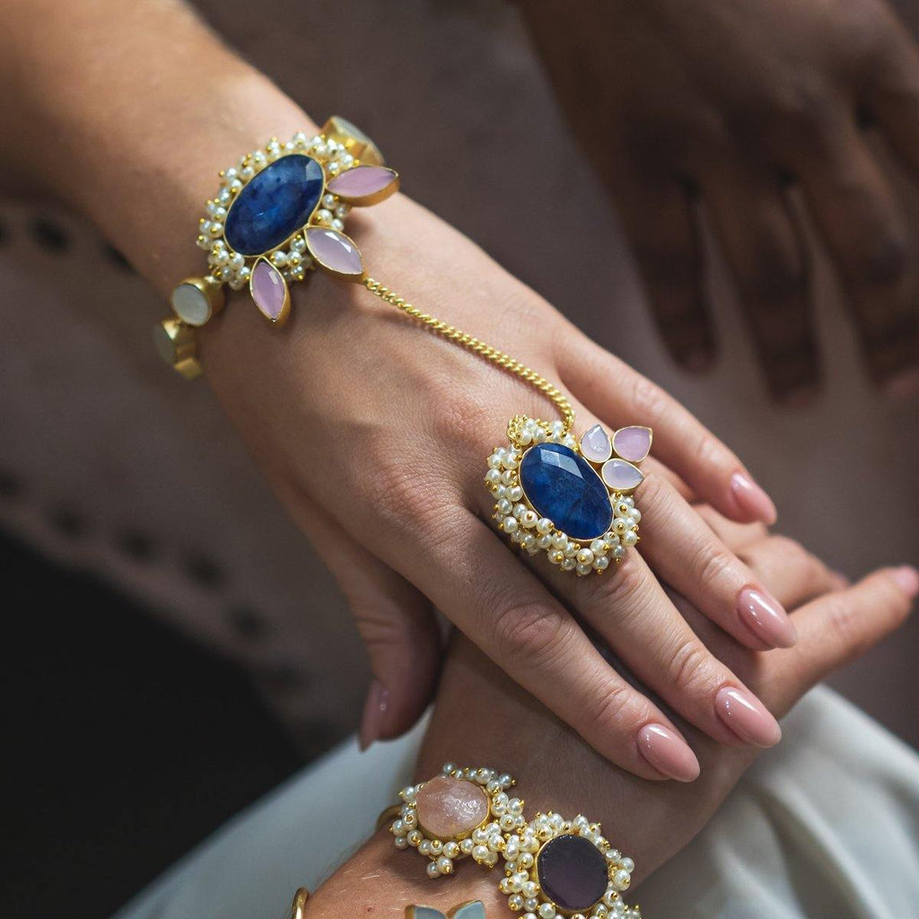 Lapis Hand Harness | Handcrafted Jewellery | Dori