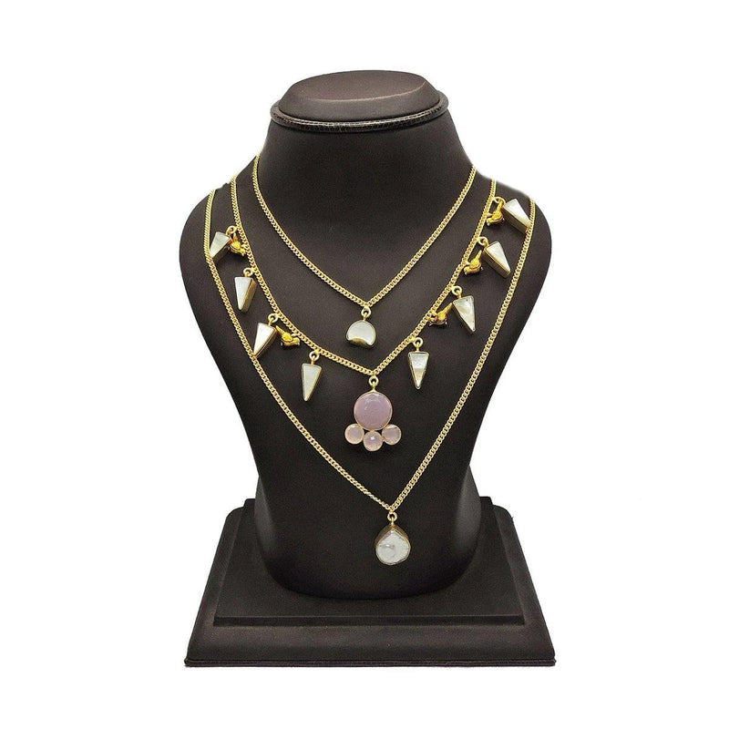 Crystal Layered Necklace | Handcrafted Jewellery | Dori