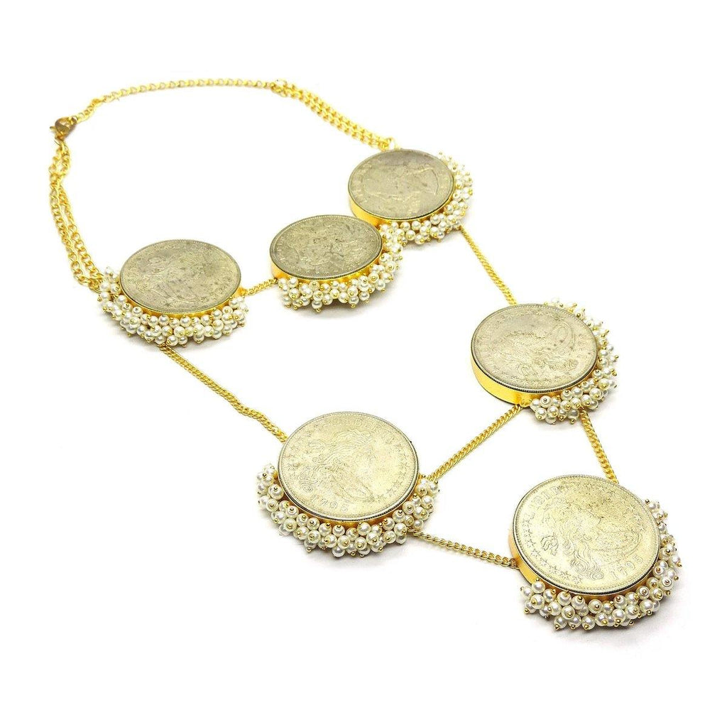 Layered Coin Necklace | Handcrafted Jewellery | Dori