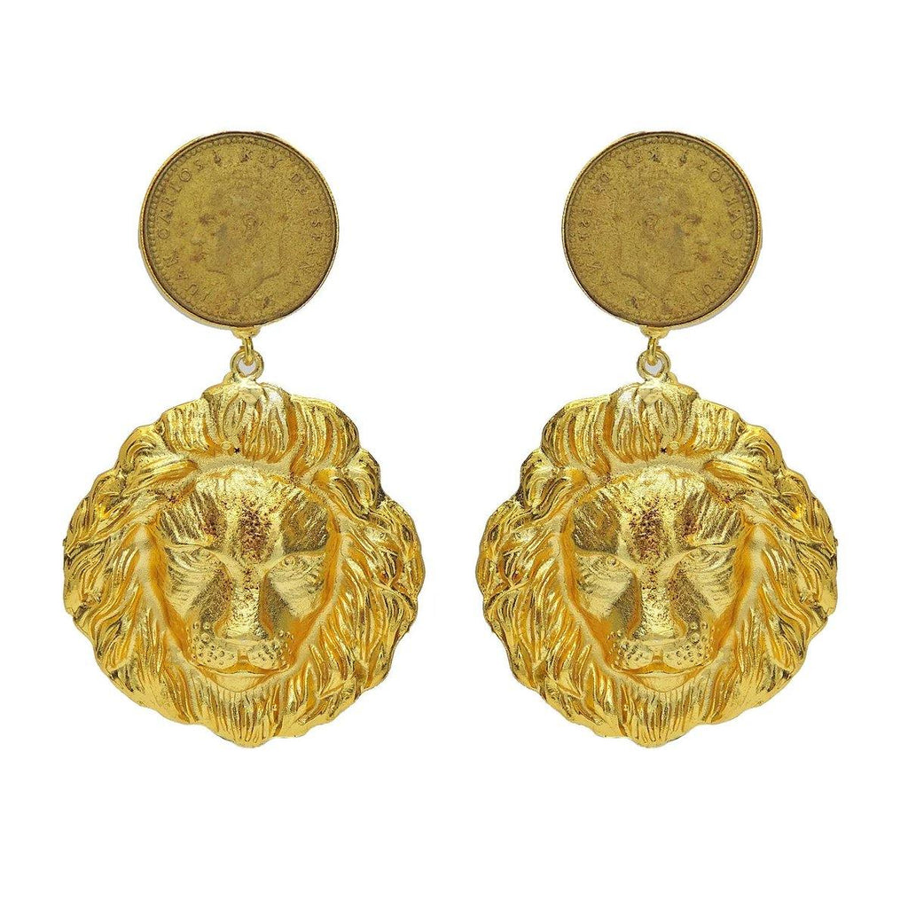 Lioness Earrings | Handcrafted Jewellery | Dori