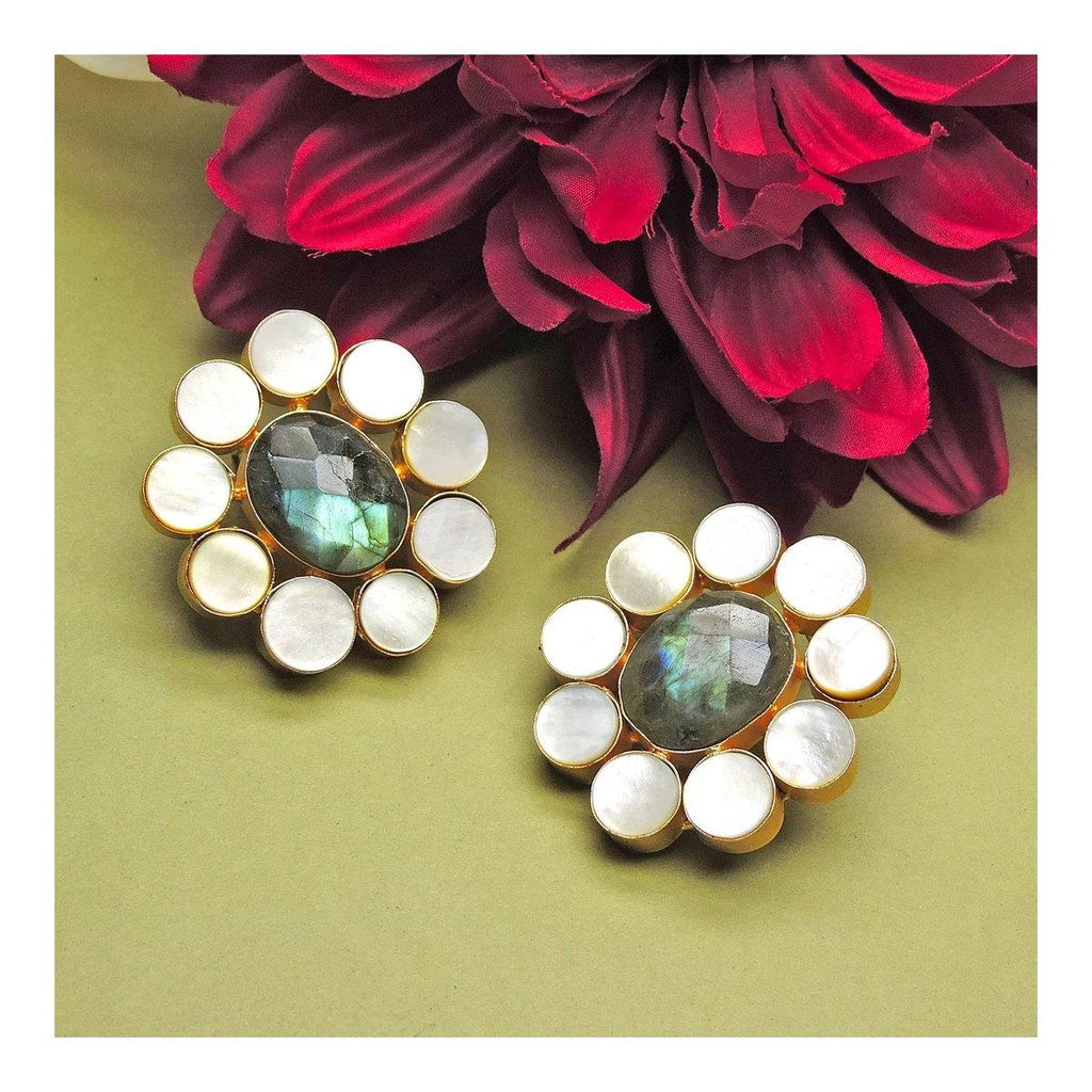 Petal Glow Earrings | Handcrafted Jewellery | Dori