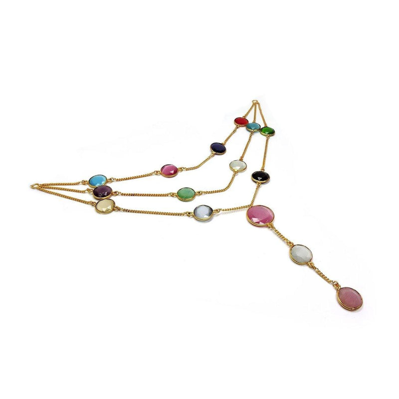 Rainbow Drizzle Necklace | Handcrafted Jewellery | Dori