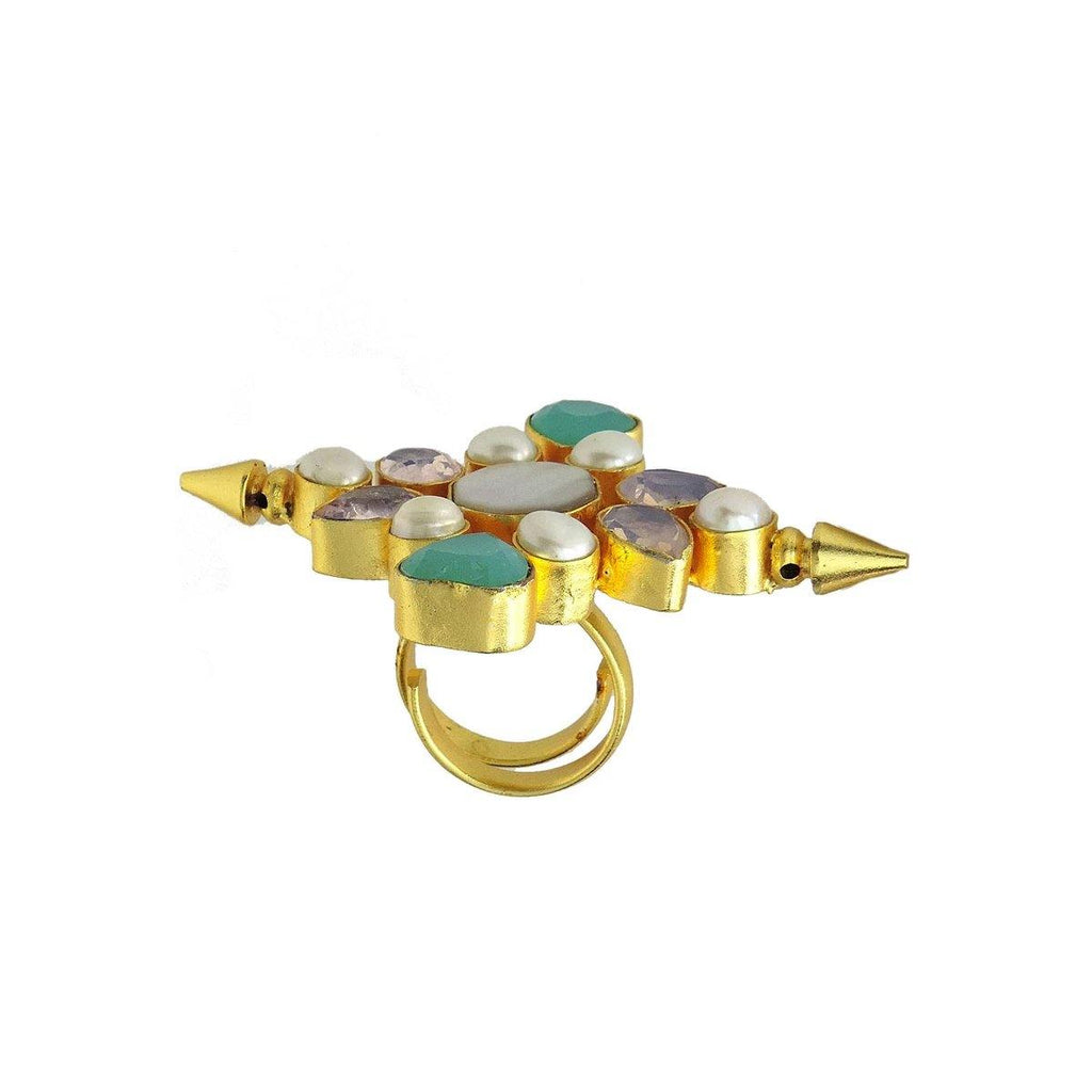 Multi-Stone Statement Ring | Handcrafted Jewellery | Dori