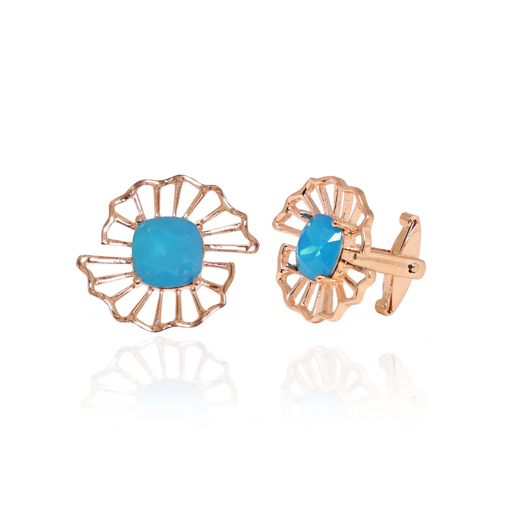 Swing Cufflinks in Turquoise