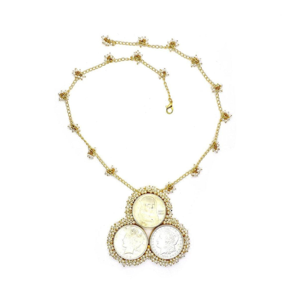 Triple Coin Necklace | Handcrafted Jewellery | Dori