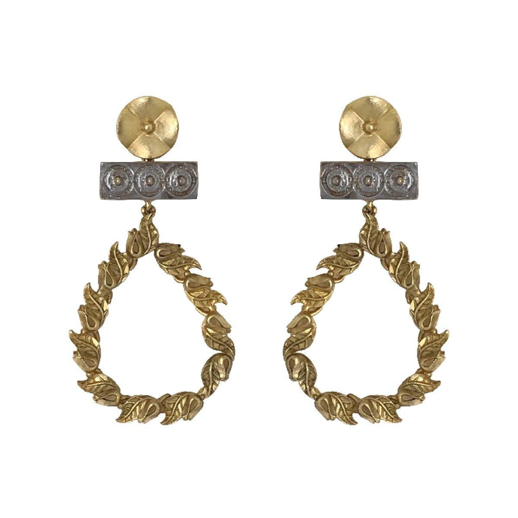 Classic Vintage Dangling Earrings | Handcrafted Jewellery | Aaree | Dori